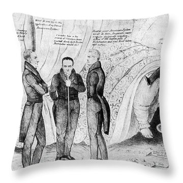 Andrew Jackson Cartoon Throw Pillow by Granger