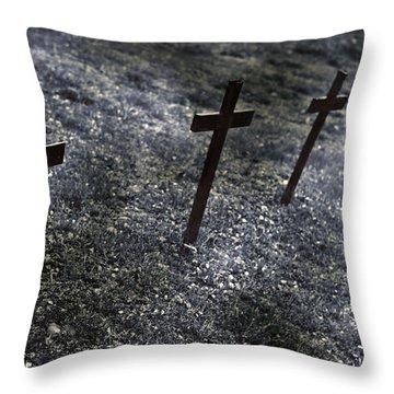 Cemetery Throw Pillow by Joana Kruse