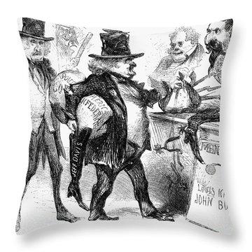 Civil War: Cartoon, 1861 Throw Pillow by Granger