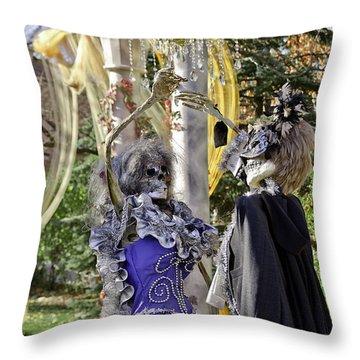 Fall  Halloween On Tillson Street Throw Pillow by LeeAnn McLaneGoetz McLaneGoetzStudioLLCcom