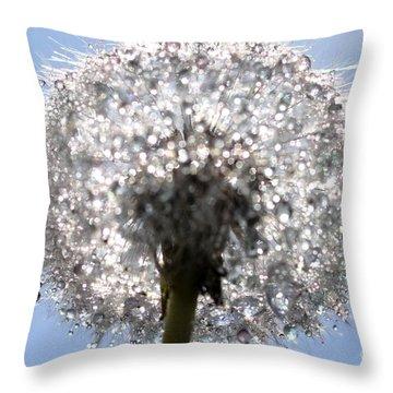 Fleur De Cristal Throw Pillow