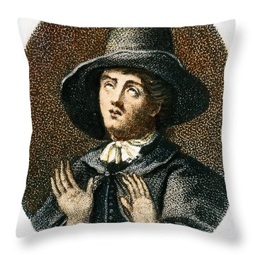 George Fox (1624-1691) Throw Pillow by Granger