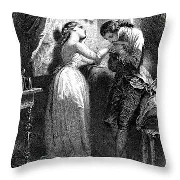 Goethe: Werther Throw Pillow by Granger