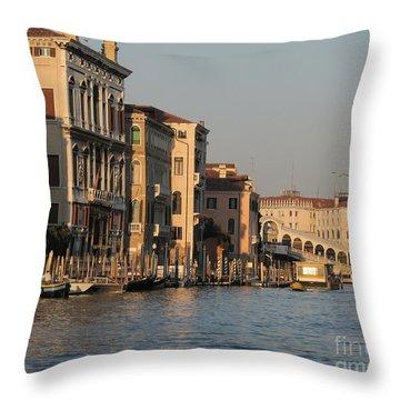Grand Canal. Venice Throw Pillow by Bernard Jaubert