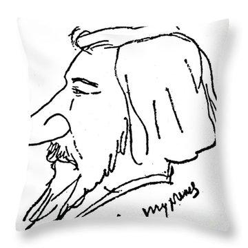 Ivan Turgenev (1818-1883) Throw Pillow by Granger