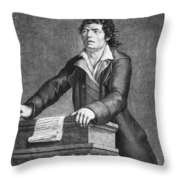 Jean-paul Marat (1743-1793) Throw Pillow by Granger