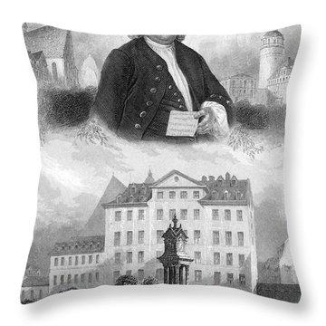 Johann Sebastian Bach Throw Pillow by Granger