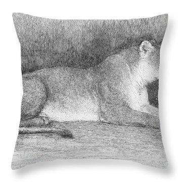 Lion Throw Pillow by Granger