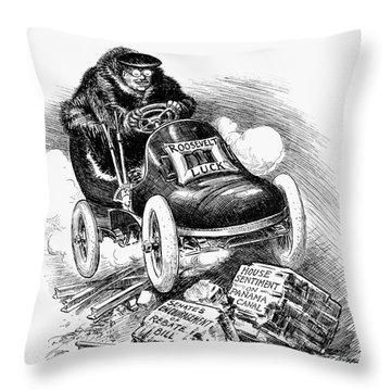 Roosevelt Cartoon, 1906 Throw Pillow by Granger