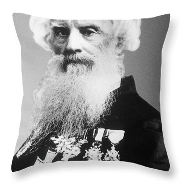Samuel Morse, American Inventor Throw Pillow by Science Source