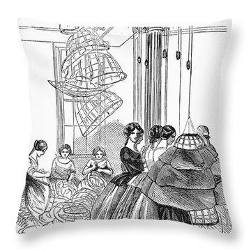 Skirt Factory, 1859 Throw Pillow by Granger