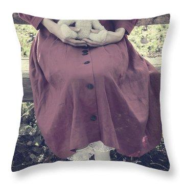 Teddy Bear Throw Pillow by Joana Kruse