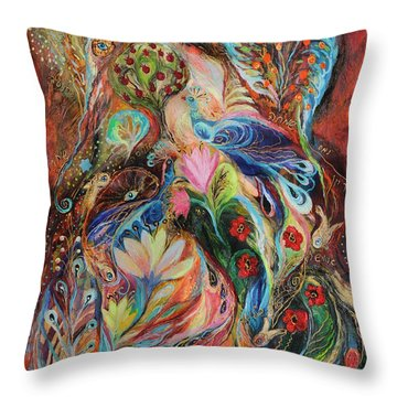 The Magic Garden Throw Pillow by Elena Kotliarker