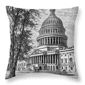 U.s. Capitol Throw Pillow by Granger