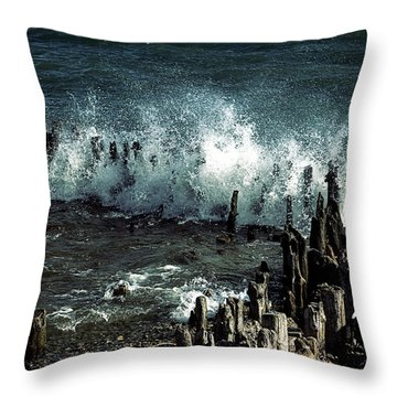 Waves Throw Pillow by Joana Kruse