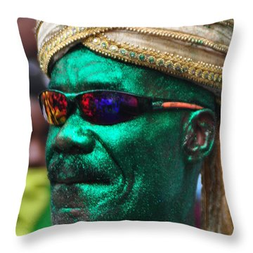 West Indian Day Parade Brooklyn Ny Throw Pillow by Mark Gilman
