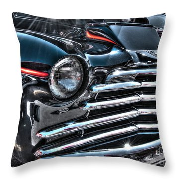 48 Chevy Convertible 2 Throw Pillow by Anthony Wilkening