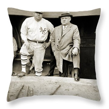 George H. Ruth (1895-1948) Throw Pillow by Granger