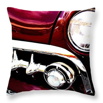 Throw Pillow featuring the digital art 49 Ford by Tony Cooper