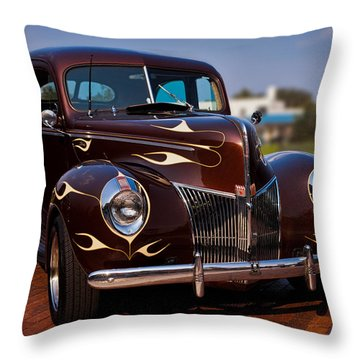 '49 Ford Two Door Sedan Throw Pillow by Christopher Holmes