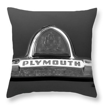 49 Plymouth Emblem Throw Pillow by David Lee Thompson