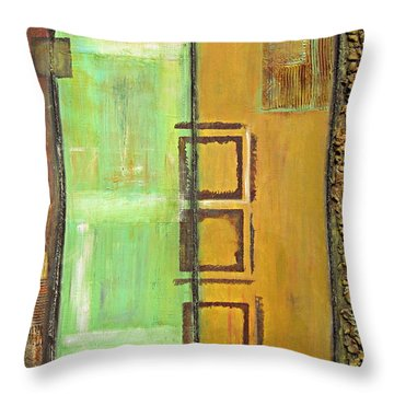 4panel Throw Pillow by Kathy Sheeran