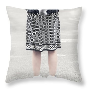 Black And White Throw Pillow by Joana Kruse