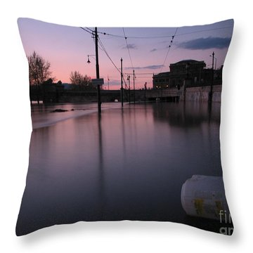 Budapest By Night Throw Pillow by Odon Czintos