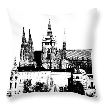 Cathedral Of St Vitus Throw Pillow by Michal Boubin