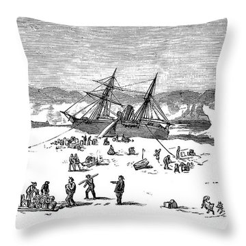Charles Francis Hall Throw Pillow by Granger
