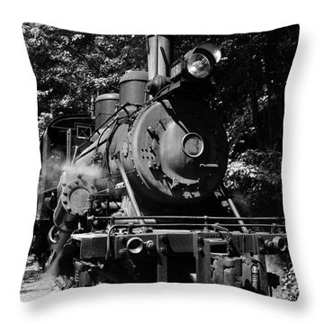 Climax Geared Locomotive Throw Pillow by Thomas R Fletcher