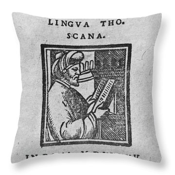 Euclid, Ancient Greek Mathematician Throw Pillow by Science Source