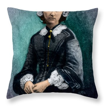 Florence Nightingale, English Nurse Throw Pillow by Science Source