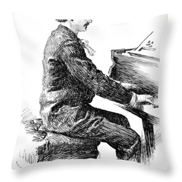 Ignace Jan Paderewski Throw Pillow by Granger
