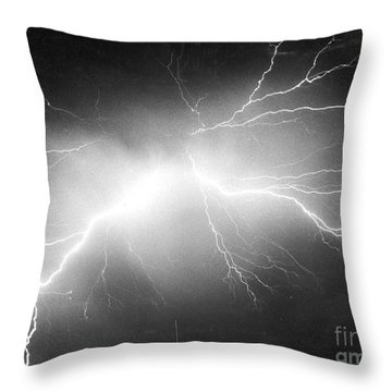 Lightning Throw Pillow by Science Source
