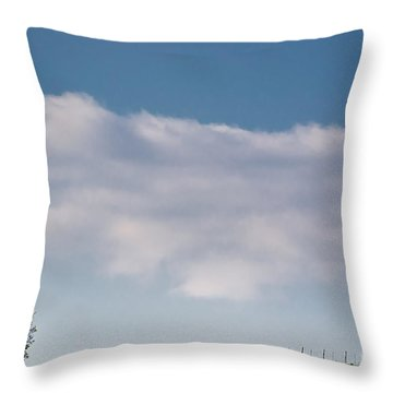 Lonely Tree Throw Pillow by Mats Silvan