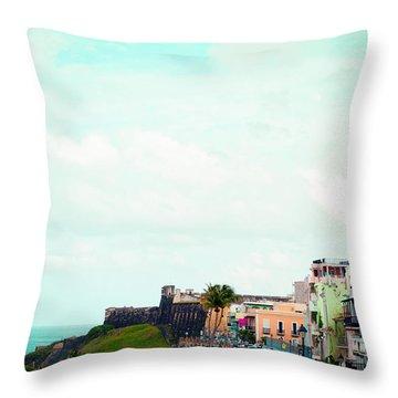 Old San Juan Puerto Rico Throw Pillow by Kim Fearheiley