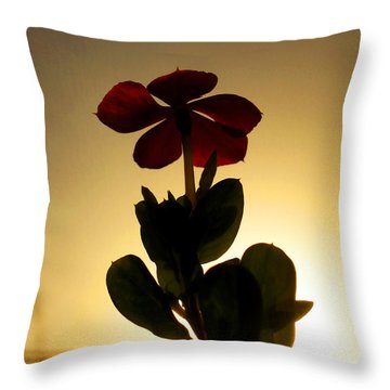5 Petals Throw Pillow by Farah Faizal