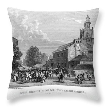 Philadelphia State House Throw Pillow by Granger