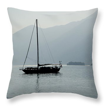 Sailing Boat Throw Pillow by Mats Silvan