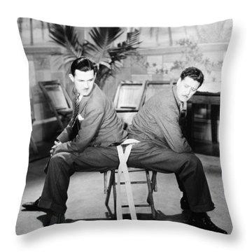 Silent Still: Two Men Throw Pillow by Granger