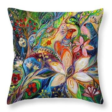 The Magic Garden Throw Pillow by Elena Kotliarker