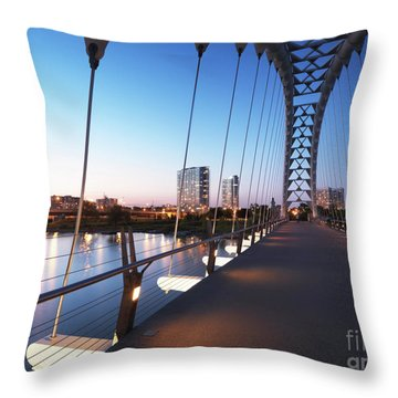 Toronto The Humber River Arch Bridge Throw Pillow by Oleksiy Maksymenko