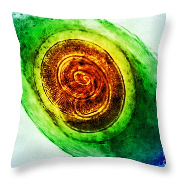 Trichinella In Muscle Lm Throw Pillow by Omikron