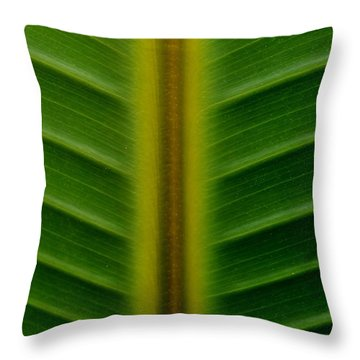 Wild Banana Leaf Throw Pillow