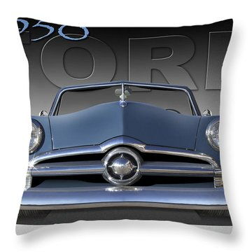 50 Ford Custom Convertible Throw Pillow by Mike McGlothlen