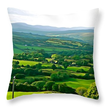 Throw Pillow featuring the photograph 50 Shades Of Green by Charlie and Norma Brock