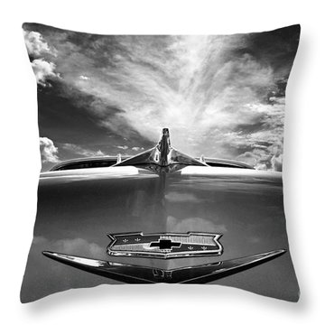 56 Bel Air Throw Pillow by Sue Stefanowicz