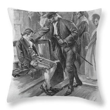 Benjamin Franklin (1706-1790) Throw Pillow by Granger