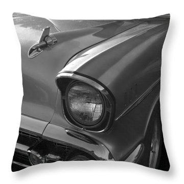 '57 Chevy Bel Air Throw Pillow by Debra and Dave Vanderlaan